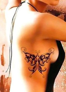 A celtic butterfly on the side. Elegant and beautiful, it stands for freedom, life, love and change. Side Tattoos, Great Tattoos, Beautiful Tattoos, Body Art Tattoos, Amazing Tattoos, Unique Tattoos, Tattoo Art, Tattoo Girls, Borboleta Tattoo