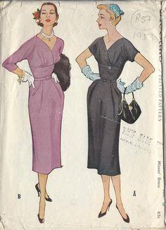 Vintage Dress Patterns, Vintage Dresses, Vintage Outfits, Mode Vintage, Vintage Vogue, 50s Vintage, 1950s Fashion, Vintage Fashion, Women's Fashion