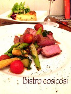 Bistro cosicosi❤︎ Today's Dinner❤︎ date❤︎2014.8  ⋈豚肩ローストポーク ~さっぱり和風の野菜和えソース~ ⋈ズッキーニとサーモンのキッシュ