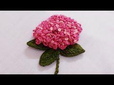 135* Hand embroidery| stumpwork hydrangea flower| How to embroider 3D hydrangea flower - YouTube Embroidery Stitches, Hand Embroidery, Embroidery Designs, Blouse Pattern Free, Free Pattern, Hydrangea Flower, Flowers, Crochet Hats, Tiffany