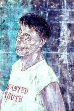 Leon Golub, Wasted Youth, 1994, acrylic on linen, 91.44 x 60.96 cm