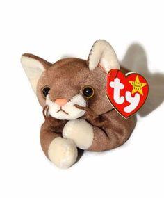 aad25bafd5e  3.99  Cat  CatLover  CatPlush  BeanieBaby  BeanieBabies  StuffedAnimal  Brown Kitty Cat Plush Stuffed Animal Ty Beanie Babies Pounce DOB August 28