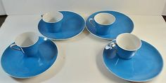 JONAS-ROBERTS-CERA-STONE-JAPAN-BRIGHT-BLUE-SNACK-SET-PLATES-CUPS