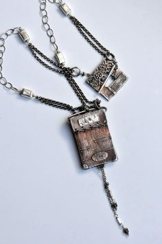 Solid Sterling Scrapbook Necklace by Christi by EAdornments