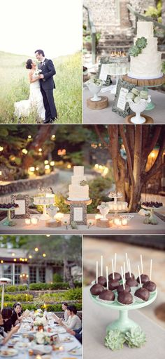 This dessert table is so simple and charming.