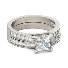 Exquisite 1.0ct Princess Cut Created White Sapphire Women's Ring