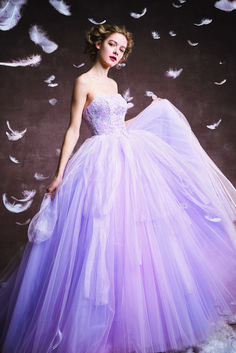FOUR SIS & CO. Purple Dress, Formal Dresses, Wedding Dresses, Ball Gowns, Lavender, Disney Princess, How To Wear, Color, Fashion