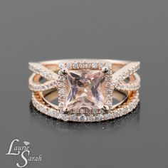 Morganite Engagement Ring which is the new upcoming trend. Add a few diamonds for the little extra and WOW!!