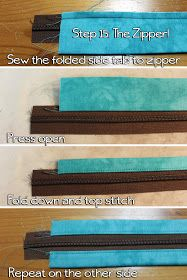 How to sew the zipper