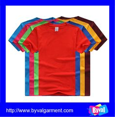 Bulk wholesale 100 cotton colorful short sleeve t-shirt custom plain blank t-shirt printed t-shirt China manufacturer
