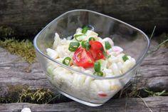 Svieži cestovinový šalát Potato Salad, Salads, Potatoes, Cheese, Cooking, Ethnic Recipes, Food, Kitchen, Potato