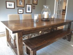 build your own farmhouse table with these free easy to follow plans tommy ellies. Interior Design Ideas. Home Design Ideas