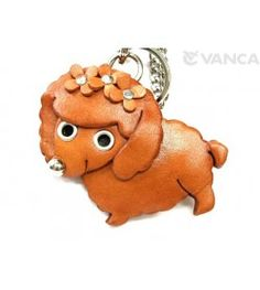 Toy Poodle Handmade Leather Dog/Bag Charm