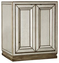 This is true love, not a one night stand. Made of wood and covered in antiqued mirror panels, this piece is sure to shine in your bedroom. But, at 36 inches