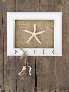 Key Holder Key Hook Necklace Holder Beach Decor by TheHopeStack