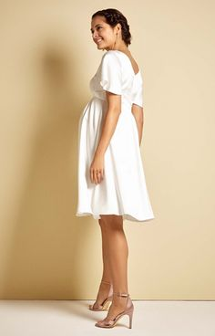 2df6a1e4c46 Keira Satin Crepe Maternity Wedding Dress in Ivory - Maternity Wedding  Dresses