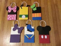 Mickey Minnie & Friends Party Favor Gift Bags by PartyRockinEvents Mickey Mouse Parties, Mickey Party, Party Gift Bags, Party Gifts, Party Favors, Wedding Favors, Mickey E Minie, Little Presents, Mickey Mouse Birthday