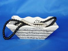 White and black small wooden tray jewelry by YourHomeDecorCrafts