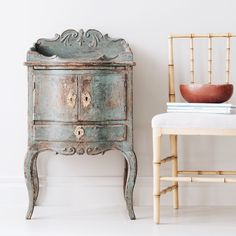 Exceptional 18th century Swedish rococo nightstand.