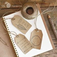 Descargable etiquetas Craft Gifts, Diy Gifts, Diy And Crafts, Paper Crafts, Paper Tags, Hang Tags, Diy Art, Gift Tags, Packaging Design