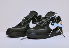 low priced 6bf8f 9fe87 Off-White Air Force One Black White Air Force Ones, Nike Air Force,