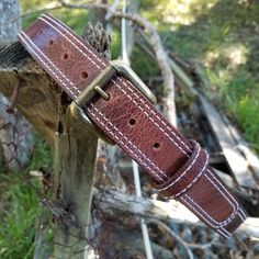 As rustic as it gets. The antique brown water buffalo makes for one fine belt! #rustic #exoticleather #waterbuffalo #leatherbelt #gunbelt #outdoors #handcrafted #belt #gunbelt #americanmade #doyouevenmotts #mottsleatherdesigns