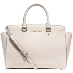 3a6be61082e7 MICHAEL Michael Kors Selma Leather Large Tote Handbag ( 270) ❤ liked on  Polyvore featuring