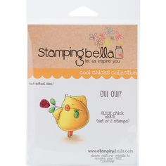 Stamping Bella Cling Stamp 6.5X4.5-Slick Chick