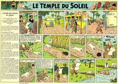 Le journal de Tintin. Le temple du soleil. Hergé.