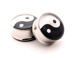 Yin Yang Picture Plugs Style 1