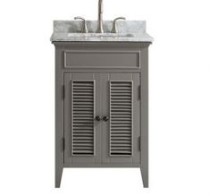 Matte Black Bathroom, Bungalow Renovation, Gray Vanity, Grey Vanity Unit, Marble Vanity Tops, Vanity, Black Bathroom, Marble Top, Cottage Bathroom