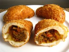 Kare Pan: Japanese curry leftovers wrapped in bread dough and fried (or baked). Sounds amazing.