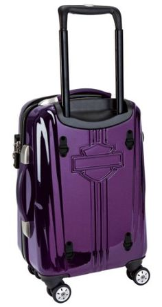 "Amazon.com: Harley-Davidson® 18"" Purple Chrome Wheeling Carry-On Luggage. Polycarbonate Shell. 20"" x 14"" x 7"" (1960 cu.in.). 99918-Purple: Clothing"