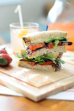 Baba Ganoush & Veggie Sandwich - Easy, Quick, Healthy Lunch