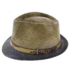 chapeau trilby paille wender