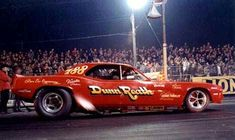 "Without question, the most successful rear-engine funny in drag racing history was ""Big Jim"" Dunn's Cuda. This was the only one to win a national event, the 1972 NHRA Supernationals"