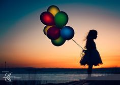 balloon silhouette photography - Google Search
