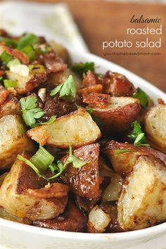 Balsamic Roasted Potato Salad  |  Your Homebased Mom
