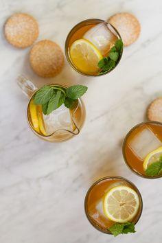 Ginger Mint Green Iced Tea - Aida Mollenkamp