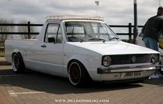 Volkswagen Rabbit Truck.. Our neighbor has one of these and with a camper shell on it too..