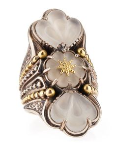 Iris Three-Stone Fluted Flower Ring by Konstantino at Neiman Marcus.  LOVE IT!