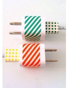 Tired of you same old white or black phone charger? Here's a good idea. You can use tape or just draw with sharpie. Goes with beautiful results. No more plain chargers. In with the new out with the old.