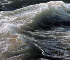 ran ortner - detail of 'swell', oil on canvas