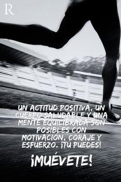 Actitud positiva es lo que necesitas para lograr el cuerpo y la salud que deseas #Muevete #Fitspiration