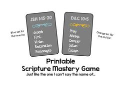 Printable Doctrine and Covenants Scripture Mastery Game  by OldfieldDesigns