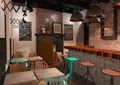 Ontwerp Interieur Café Nassau Breda Danielle Verhelst Interieur & Styling #café #restaurant #interieur #interior #bar #render #3D #visualisatie #visuals #schaarlamp #industrieel #kruk #koper #breda #advies #binnenhuis #architect #styling #stiliste #adviesInterieur Ontwerp Styling Café Nassau Breda