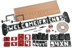 Router Letter Template Set - Woodworking  PERFECT for a DAD who has everything in his shop except this . . .