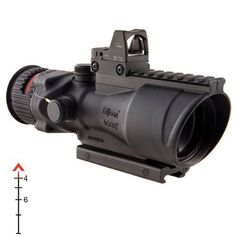 Trijicon TA648RMR ACOG 6x48 Machine Gun Scope Illuminated Red Chevron .223 Ballistic Reticle with 6.5 MOA RMR Sight and TA75 Mount Aluminum Black TA648RMR