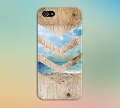 Beach Waves x Sand x Sunny California Chevron Wood Phone Case for iPhone and Samsung