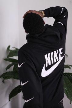 sweater nike swoosh black hoodie white back print logo jacket nike sweater tumblr outfit